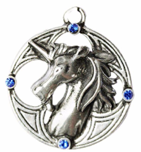 Celtic Sorcery Plantagenet Unicorn Necklace