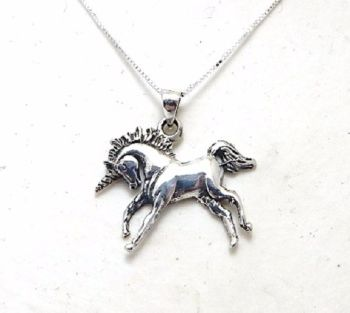 Unicorn necklace Sterling silver