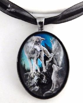 Guidance glass cabochon necklace - Lisa Parker