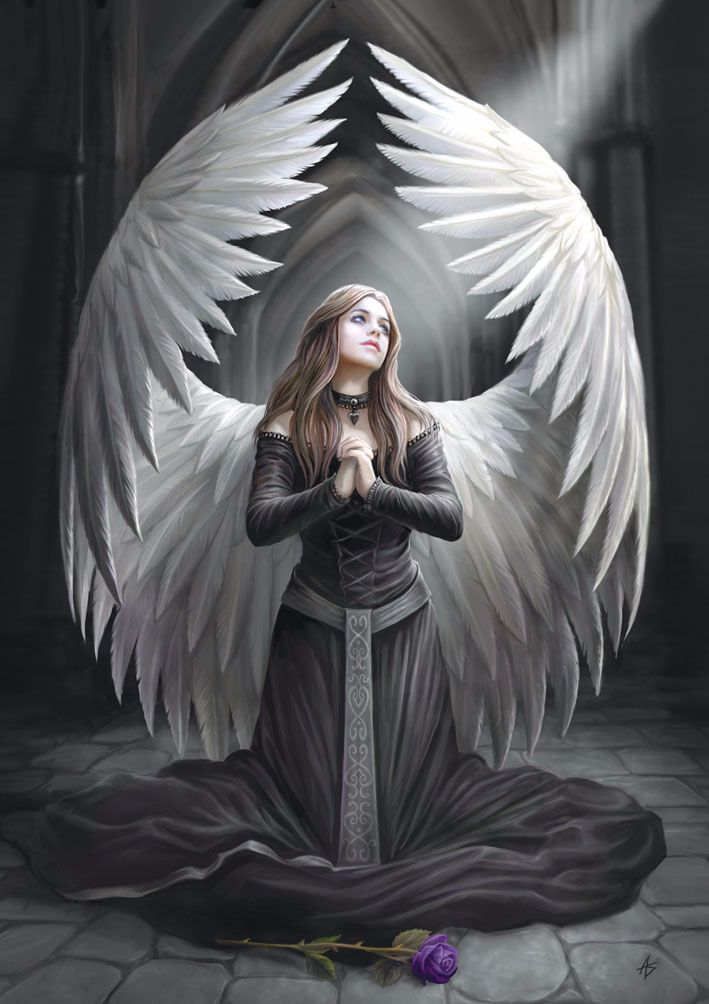 Prayer For The Fallen Greetings Card by Anne Stokes