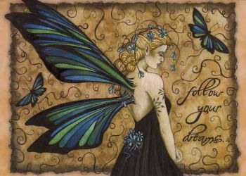 Jessica Galbreth Follow Your Dreams Greetings Card