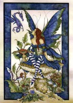 Amy Brown Bottom of The Garden fairy Greetings Card