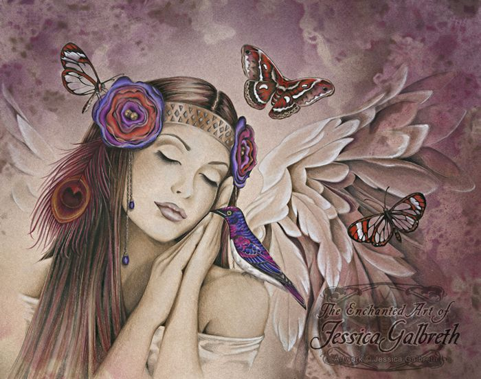 Jessica Galbreth Angel Song Greetings Card