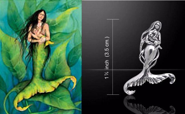Seer's Child mermaid and baby pendant by Sasha St John