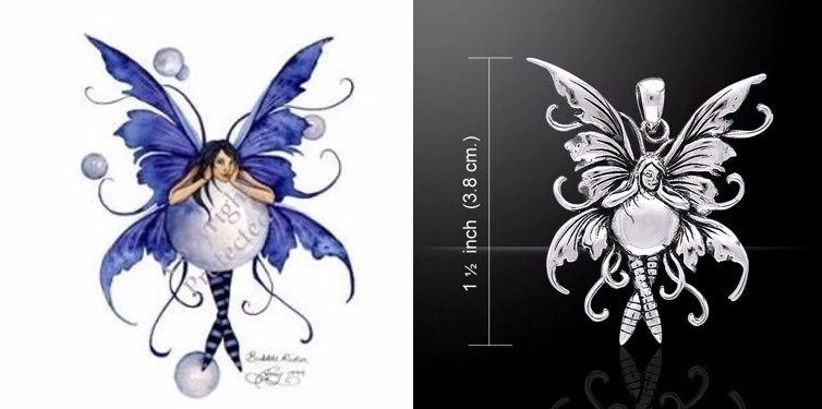 Amy Brown Bubble Rider Fairy Pendant