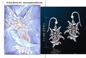 Amy Brown Star Gazer Fairy Earrings Just Like Silver