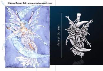 Amy Brown Star Gazer fairy pendant Just Like Silver