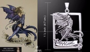 Amy Brown Imagine Fairy Pendant Just Like Silver