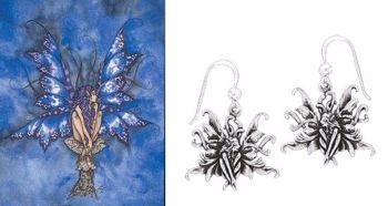 Amy Brown Blue Fairy Earrings Just Like Silver