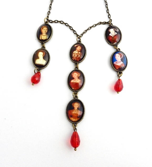 Henry VIII and His Six Wives necklace