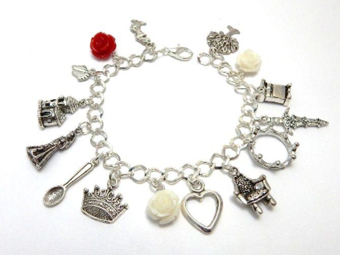 White Queen Bracelet - War Of The Roses charm bracelet - Elizabeth Woodvill