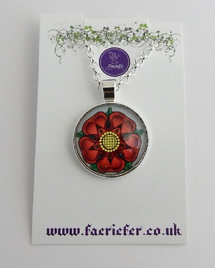 War Of The Roses Collection - Red Rose of Lancaster necklace