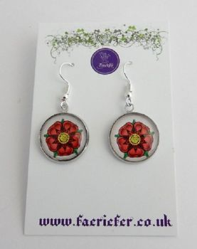 War Of The Roses Collection - Red Rose of Lancaster Earrings