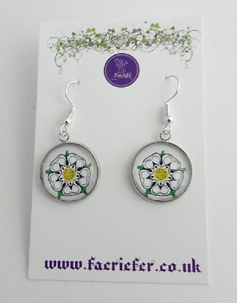 War Of The Roses Collection - White Rose of York Earrings