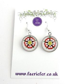 War Of The Roses Collection - Tudor Rose Earrings