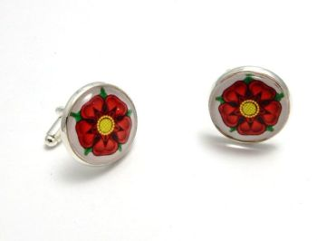 War Of The Roses Collection - Red Rose of Lancaster Cuff Links