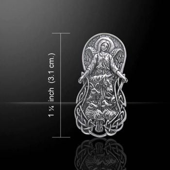 Angel Of The Animal Sterling Silver Pendant