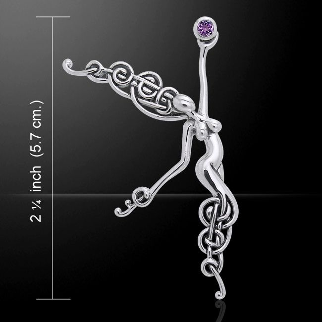 Angel Of The Phoenix Sterling Silver Pendant