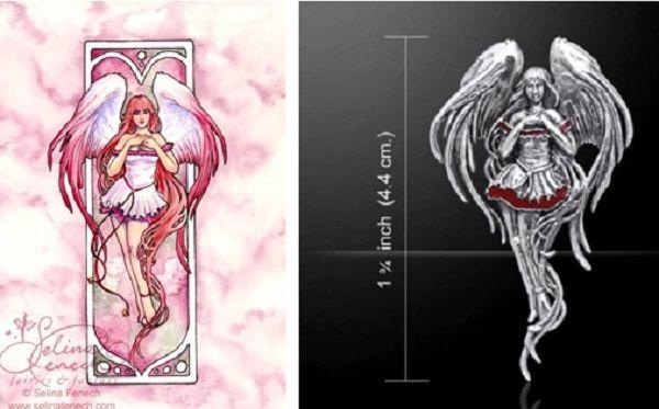 Angel Love Fairy Pendant by Selina Fenech artist sterling silver Peter Ston