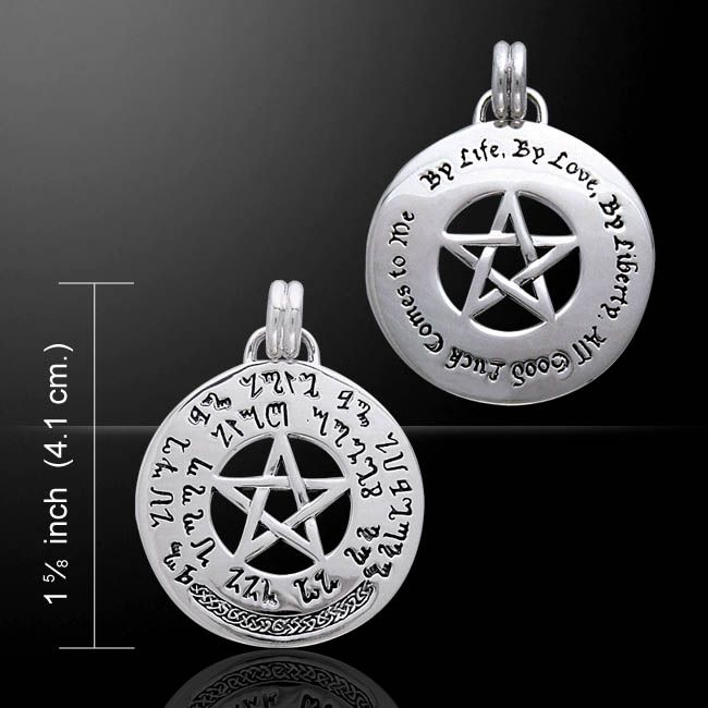 Luck Spell Pentagram sterling silver