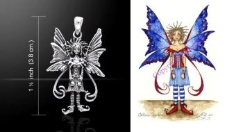 Amy Brown Caffeine Overload Fairy pendant