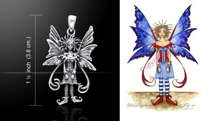Amy Brown Caffeine Overload Fairy pendant
