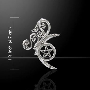 Wicca Green Man sterling silver Pendant
