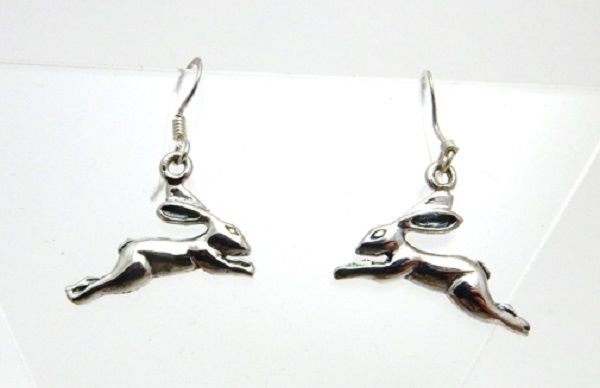 Leaping Hare drop Earrings