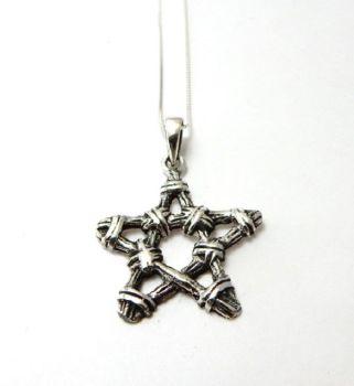 Twig Pentagram necklace