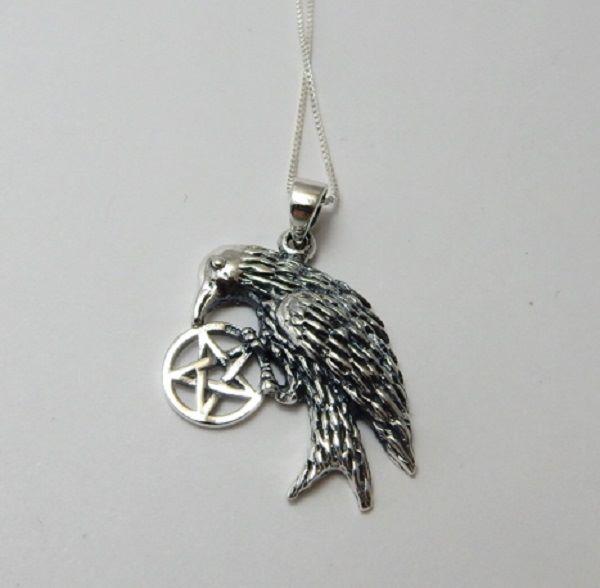 Raven Pentagram necklace
