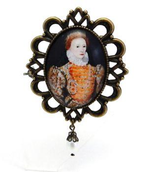 Queen Elizabeth 1st Brooch or Necklace - Darnley Portrait
