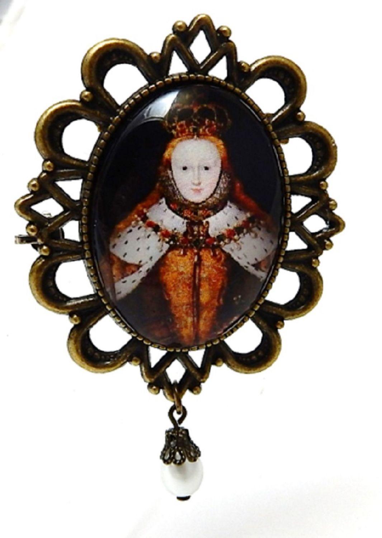 Queen Elizabeth 1st Brooch or Necklace - Coronation