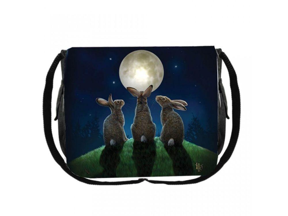 Lisa Parker Moon Shadows Messenger Bag Rabbit Bunny Hares Fantasy Nemesis N