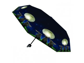 Moon Shadows Umbrella moon gazing hares design by Lisa Parker Nemesis now gift
