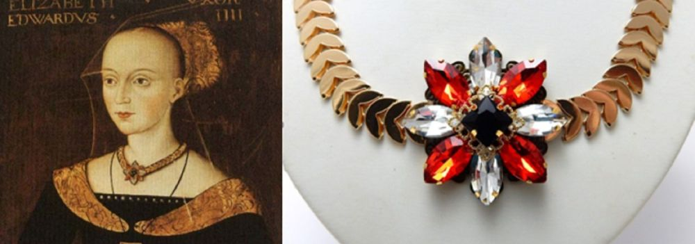 Elizabeth Woodville Replica Necklace - The White Queen - War Of The Roses -