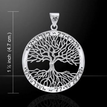 Theban Tree of Life sterling silver Pendant by Mickie Mueller Peter Stone .925