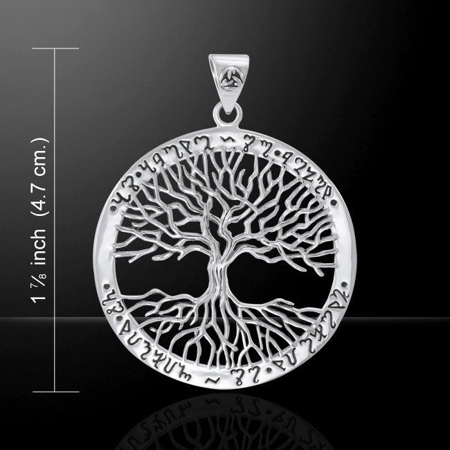Theban Tree of Life sterling silver Pendant by Mickie Mueller Peter Stone .