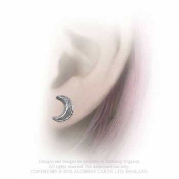 Sickle Moon Studs by Alchemy England
