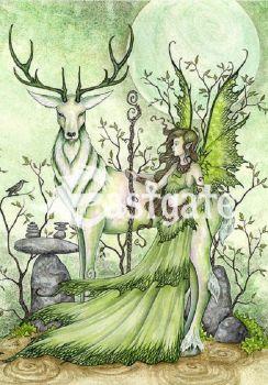 Amy Brown Guardian fairy  Greetings Card