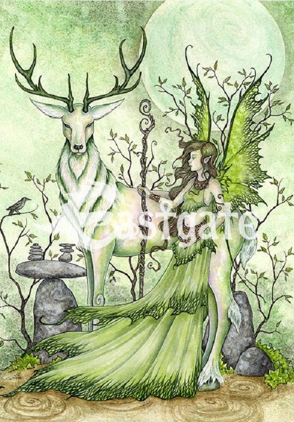 Amy Brown Guardian fairy  Greetings Card