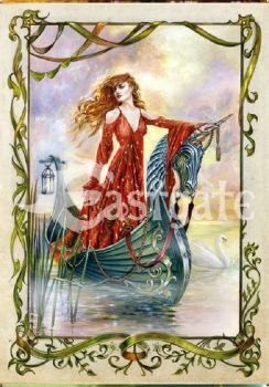 Lady of the Mists Greetings card Arthurian Legend