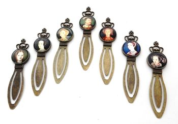 Henry VIII and his six wives bookmark set