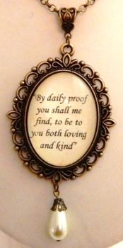 Queen Anne Boleyn romantic quote necklace