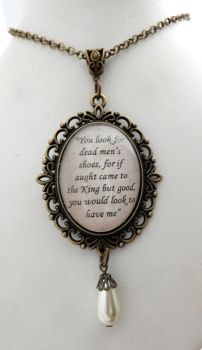 Queen Anne Boleyn Sir Henry Norris quote necklace