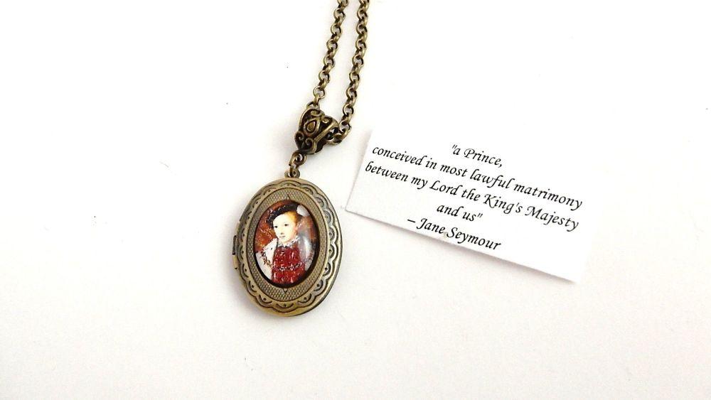 Edward VI locket necklace