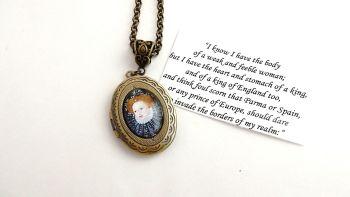 Elizabeth 1st locket necklace