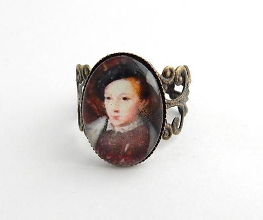 Edward VI ring - King of England - historical portrait jewellery