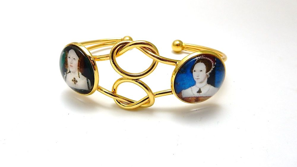 Infinity Love Knot bangle - mother and daughter - Catherine of Aragon and P