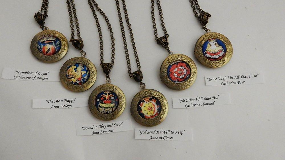 Henry's Wives heraldic badge locket