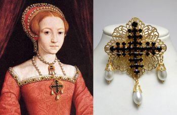 Elizabeth 1st Dress Brooch - young Elizabeth